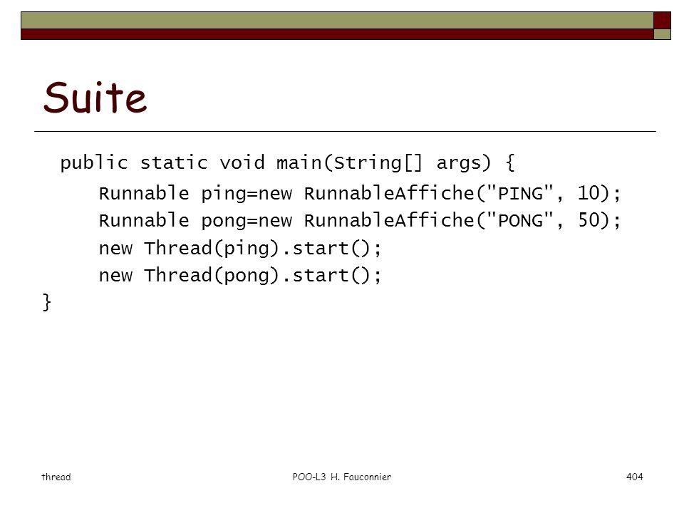 Suite public static void main(String[] args) {